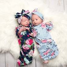 2020 Newborn Baby Sleeping Bags Infant Blanket Swaddle Wrap Gown 2PCS Outfits Sets