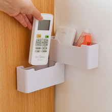 Rotating Remote Control Storage Box Wall Mounted Organizer for Air Conditioner Phone Case Corner Cosmetic Box Office Organizer