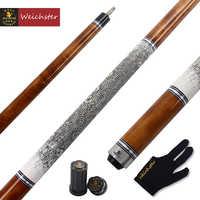 Weichster-Palo de billar de 58 pulgadas, 1/2, Birdeye, madera de arce con piel de serpiente, envoltura de 19oz a 20oz, punta de 13mm