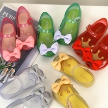 Jelly-Shoes Fabric Mini Melissa Girl Summer Fashion Todder Bow HMI033 Crown Candy-Color