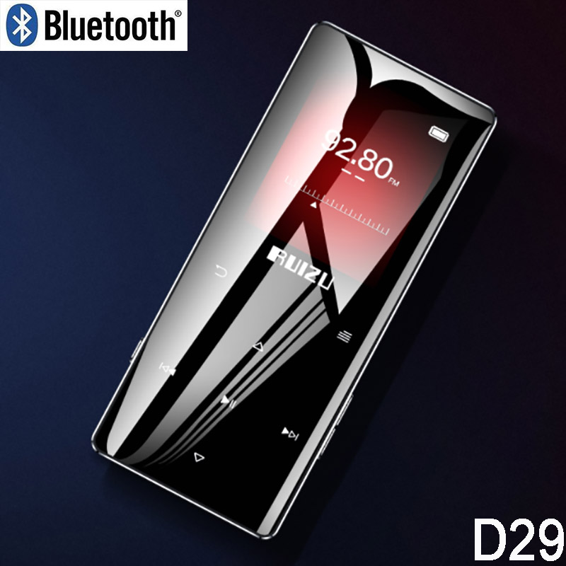 Ruizu D28 Bluetooth MP3 Music Player With Built-in Speaker Ultra Thin Portable Walkman E-book Radio Video