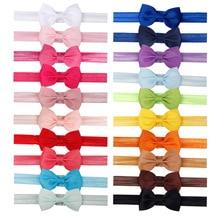 40 шт./компл. повязка на голову для маленькой девочки Детские аксессуары для волос с галстуком для маленького бантики Головные уборы тиара подарок для малышей повязка новорожденных повязка для волос
