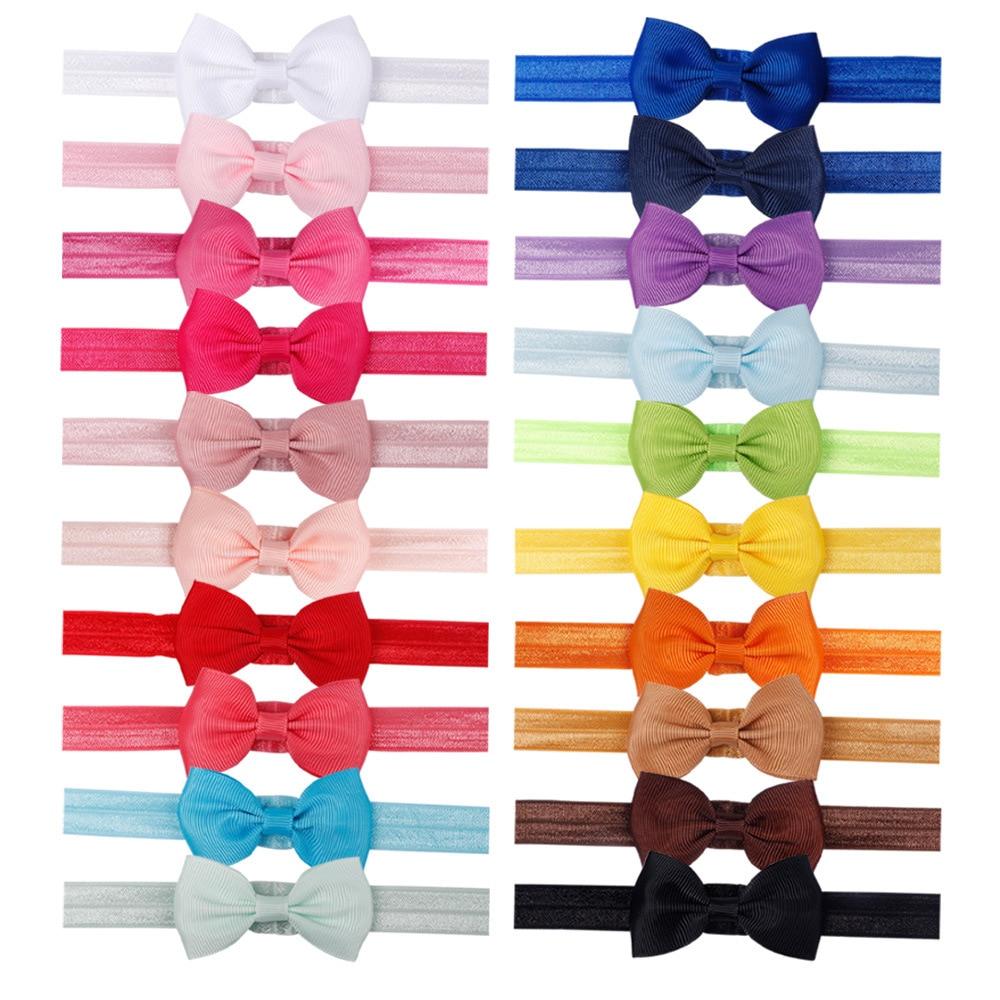 40pcs/set Baby Girl Headband Infant Hair Accessories Cloth Tie Bows Headwear Tiara Gift Toddlers Bandage Ribbon Newborn Headwrap