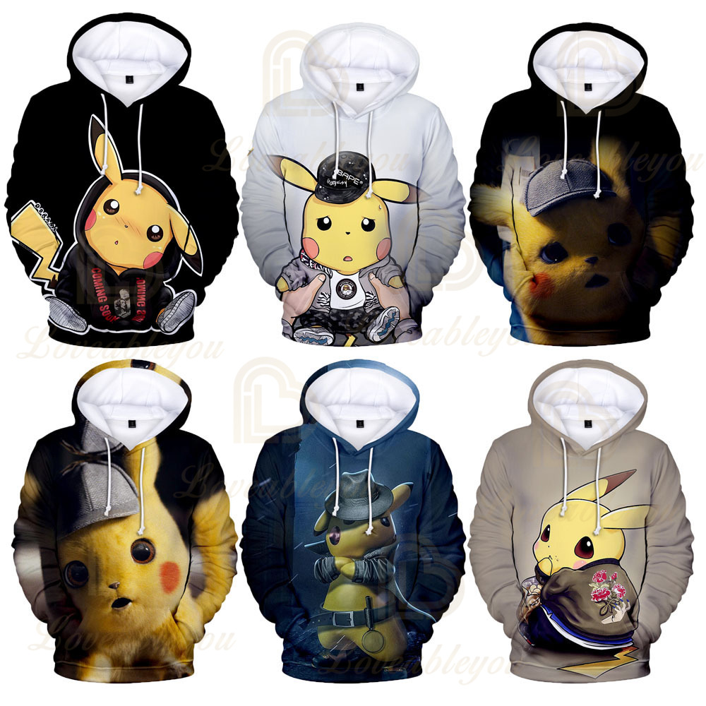 3 To 14 Years Pokemon Pikachu Clothing Children Kids Boys Girls Long Sleeve Hoodies Sweatshirt Outerwear Child Hoodie Jacket