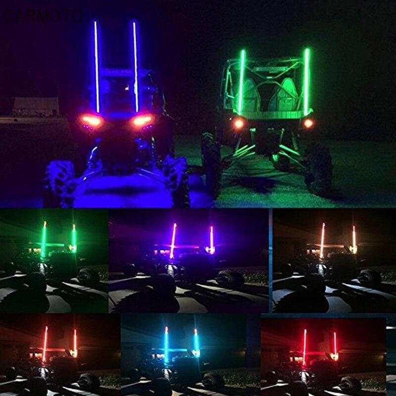 Road Vehicle ATV UTV RZR Jeep Trucks Dunes AddSafety 4FT Orange LED Whips Light UTV Whips LED Antenna Light For Off