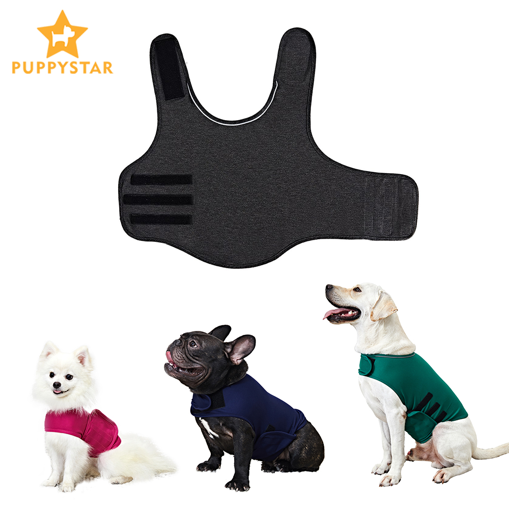 Dog Anxiety Vest XS-XL Pet Dog Anxiety Jacket Reflective Vest For Small Medium Large Dogs Thunder Dog Clothes Shirt Pet Product
