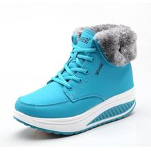 Зимние женские теплые зимние сапоги новые модные женские бархатные ботинки с хлопковой подкладкой ботильоны для женщин на меху Ботинки на каблуке со шнуровкой