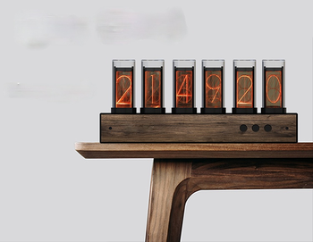 Cyfrowe zegary cyfrowe analogowe zegar elektroniczny Nixie biurko stołowe Led pulpit Home Decor Garden tanie i dobre opinie CN (pochodzenie) Zegary biurkowe LUMINOVA DIGITAL Cyfrowy