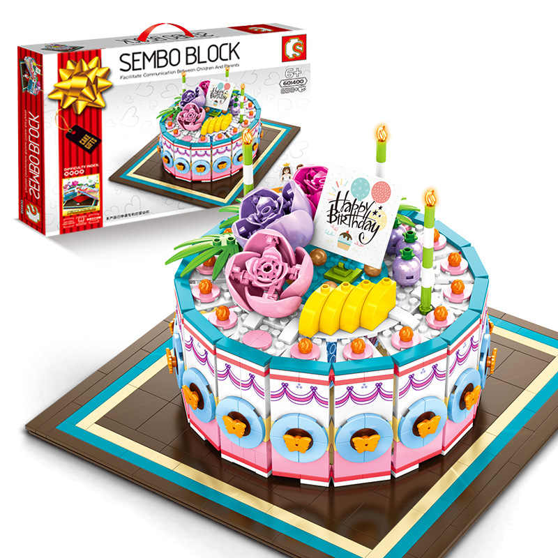 Terrific Sembo Building Blocks Birthday Cake Model Food Toys For Kids Personalised Birthday Cards Beptaeletsinfo