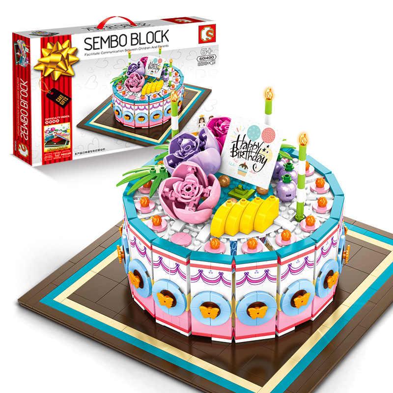 Astounding Sembo Building Blocks Birthday Cake Model Food Toys For Kids Birthday Cards Printable Benkemecafe Filternl