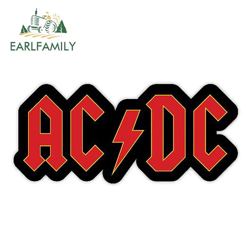 EARLFAMILY 13cm X 5.8cm DCAC DC AC Music Sticker Vinyl Decal Funny Car Sticker For Car Truck Window Bumper Decals Decoration