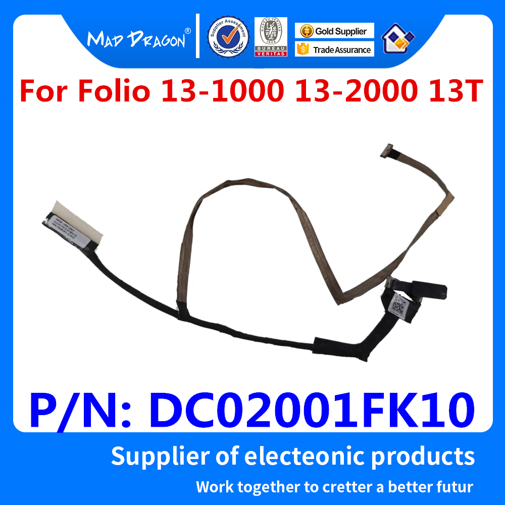 New Original VIDEO SCREEN For HP Folio 13-1000 13-2000 13T 13-1008TU 13-1029 LCD LED LVDS Cable P/N:  DC02001FK10