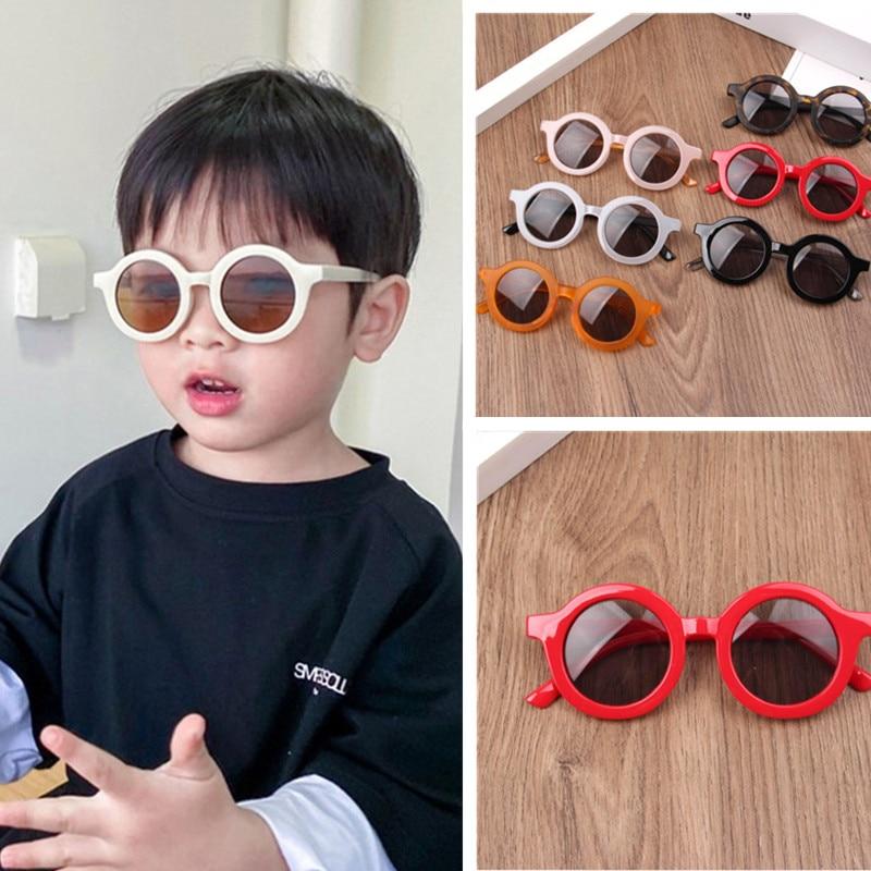 1pcs Retro Round Frame Kids Sunglasses Baby Wild British Style Metal Eyewear Sunglasses Protection Goggles Accessories