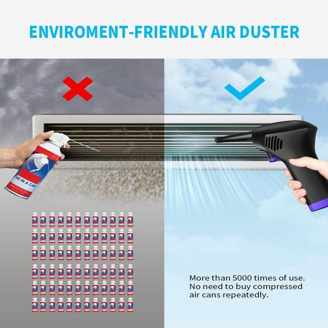 45000 RPM Wireless Air Duster Cleaner Blower Hand-Held Charging Cordless Dust Blower Tablet Laptop Computer Accessories 3