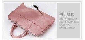 Image 5 - Матовая водонепроницаемая сумка из искусственной кожи для ноутбука 14, 15,6, 17,3, сумка для Macbook Air 13, сумка Pro 13,3, 15, чехол, Деловые женские и мужские сумки через плечо