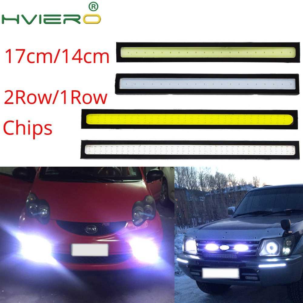 Авто COB противотуманная фара для вождения Дневной светильник дневные ходовые огни лампа водонепроницаемый обновление ультра авто-Стайлинг 17 см 14 см 2 ряда 76 светодиодный Светодиодный