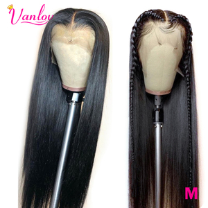 Vanlov Lace Front Human Hair Wigs For Black Women Brazilian Straight Wig With Baby Hairs 150% Density Remy Lace Wig