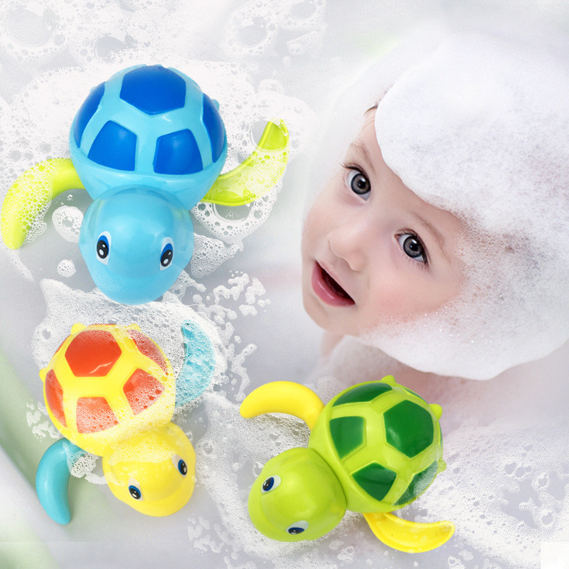 Cute Cartoon Animal Tortoise Classic Baby Water Toy Infant Swim Turtle Wound-up Chain Clockwork Kids Beach Bath Toys For Kids