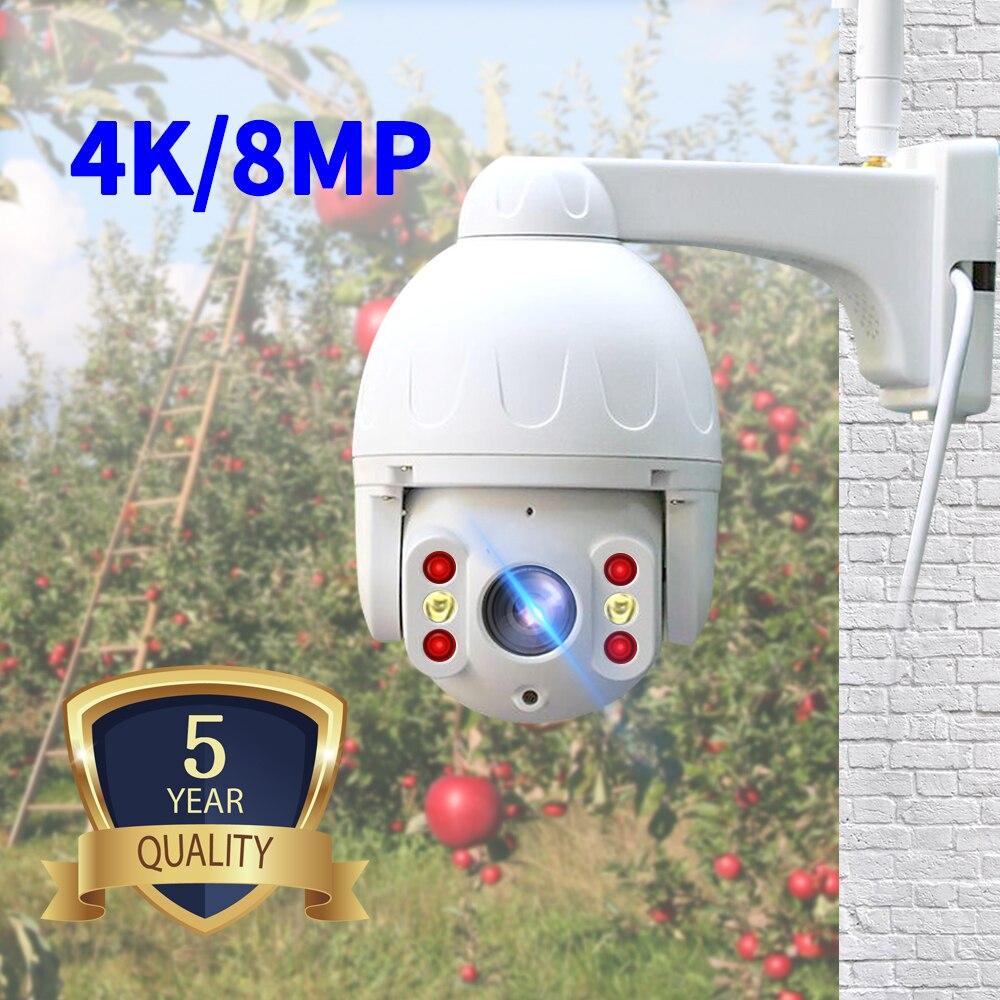 Câmera impermeável exterior da câmera 8mp 4 k hd do ip de n_eye com visão noturna da cor câmera de segurança esperta de ptz wifi câmera de segurança 360 °