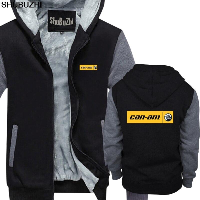 Hommes chaud manteau Cool peut Am Logo rayure Brp équipe drôle à capuche mâle hiver haut tendance veste plus grande taille vêtements épais sbz314