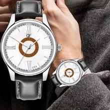 Relogio Masculino New 2019 Retro Design Men Watches Luminous Business Quartz Leather Strap Male WristWatch Gift Clock цена в Москве и Питере