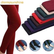 2019 mujeres Otoño Invierno grueso cálido Legging cepillado forro elástico polar pantalones Trample pies polainas alta elasticidad