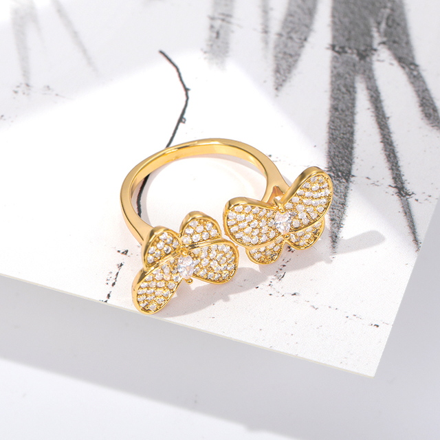 Купить женское кольцо с бабочкой золотистое/серебристое обручальное картинки цена
