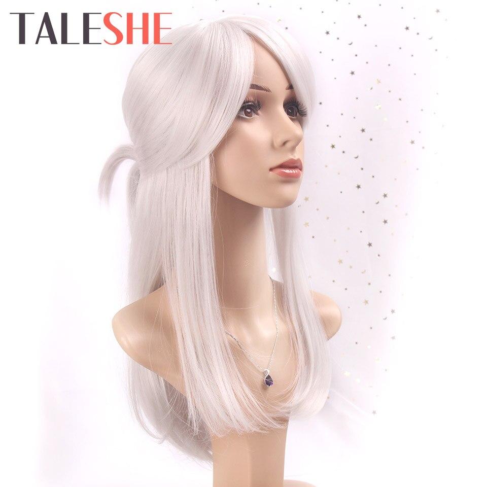 TALESHE, серебристо-белый, косплей, Сири из игры ведьмы, длинный прямой костюм, парики, синтетические волосы, парик для женщин, серый с булоном