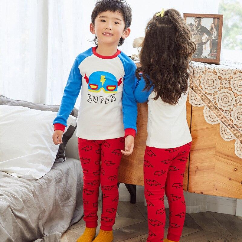 2019 New Style CHILDREN'S Underwear Suit Cotton BOY'S Girls Cotton Jersey Autumn And Winter Pajamas Thermal Underwear Tracksuit