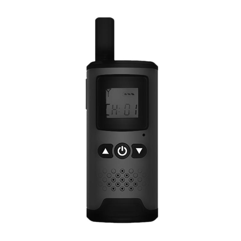 2PCS Mini Walkie Talkie 16CH 400-470MHz 2-Way Radio Transceiver with Universal Interface Rechargeable Range 1Km-3Km