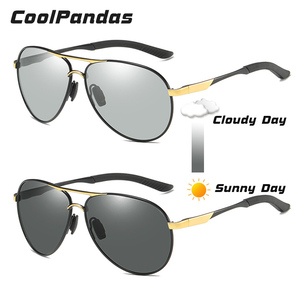 Image 3 - CoolPandas Brand Men Pilot Sunglasses Polarized Driving HD Photochromic Sun Glasses Women Aviation Discoloration zonnebril heren