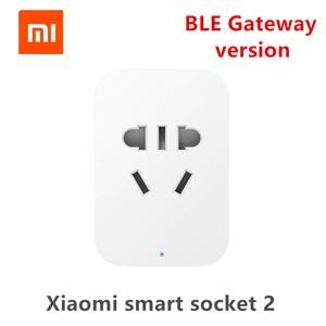 Image 1 - Xiaomi Mi Smart WiFi Socket 2 Plug bluetooth gateway Version Remote Control Work With Xiaomi Smart Home  Mijia Mi home APP