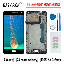 For Lenovo Vibe P1 P1c72 P1a42 P1c58 LCD Display Touch Screen Digitizer Replacement with frame