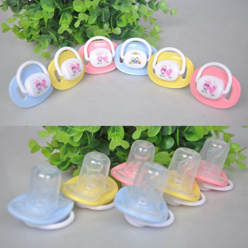 1Pcs Baby Pacifier New Baby Nipple Food Grade Silicone Round Head Infant Newborn Soother Cartoon Safe Teether Care