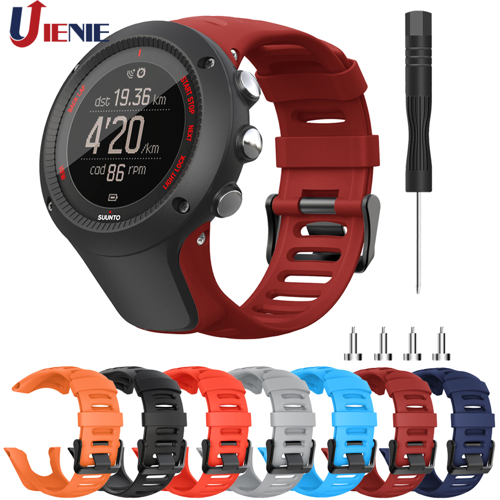 Band For Suunto Ambit 1/2/3 Watchband Strap 24mm Silicone Wristband For SUUNTO AMBIT 2R 2S 3P 3S Bracelet Sport Correa With Tool