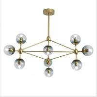 Nordic Studio Art Gold Led Chandelier Magic Ball Light Clear Glass Globe Bedroom Light Coffee Shop Home Light With E27 Led Bulbs