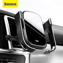 Baseus 15W bezprzewodowa ładowarka samochodowa uchwyt samochodowy na odpowietrznik bezprzewodowa ładowarka Qi W czujnik na podczerwień bezprzewodowy uchwyt do ładowania telefonu