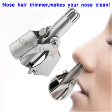 Adomaner Nose Hair Trimmer Ear Portable Vibrissa Razor Manual Rhinothrix Cutter Nariz Nasal Shaver Washable HT Tragi Scissors