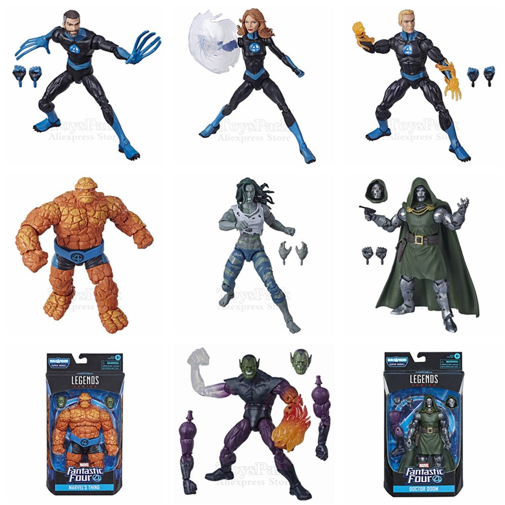Marvel Legends Fantastic 4 Human Torch Invisible Woman Thing Doctor Doom Hulk Lady 6