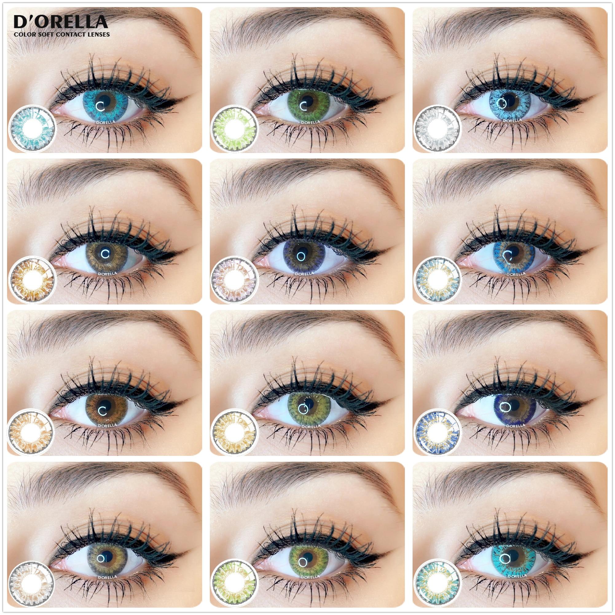 D'ORELLA комплект из 2 предметов, 3 оттенка, переходящие плавно от темного к светлому) Цвет ed контактные линзы для глаз косметический Цвет ed конта...