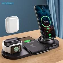10ワットチーワイヤレス充電器iphone用スタンド12 11プロxs xr × 8高速ためのdock充電ステーションリンゴの時計2 3 4 5 6 se airpodsプロ