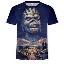 Новинка, 3D футболка с тяжелым металлическим черепом, панк-фестиваль, рок, Мужская футболка с принтом, Повседневная футболка с круглым вырезом, хип-хоп, короткий рукав, большие размеры
