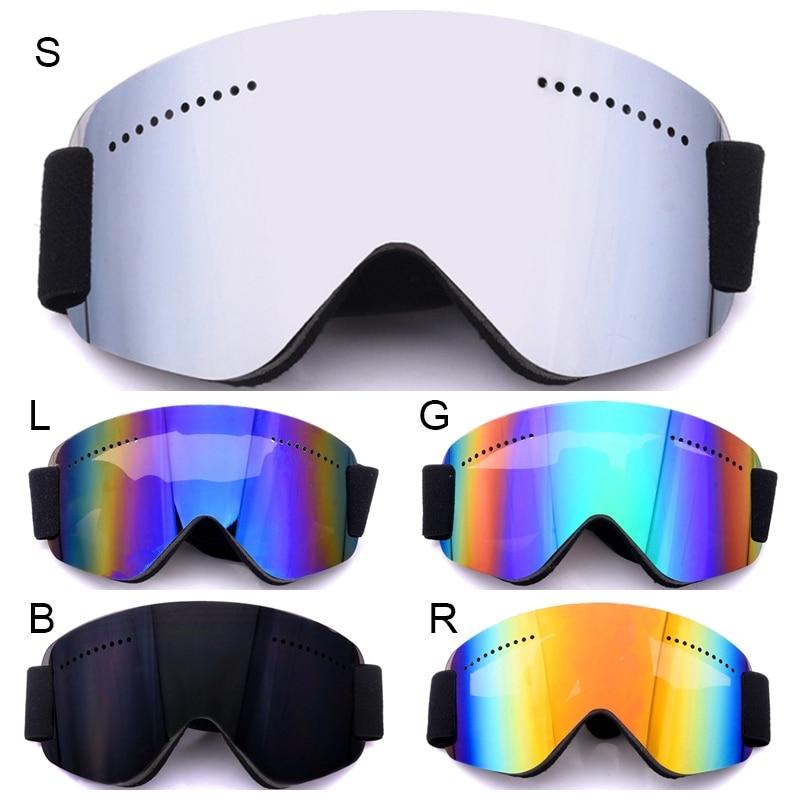 Men Women Windproof Ski Goggles Snow Snowboard Motorcycle Goggle Glasses Winter Anti-Fog Spherical Skiing Snowmobile Eyewear