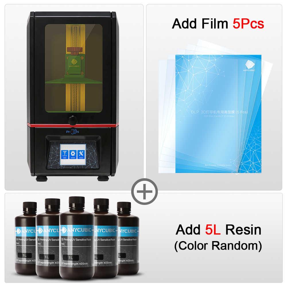 ANYCUBIC 3D Impresora de fotones SLA de resina UV luz cura Impresora 405nm resina Plus tamaño 3d Drucker Impresora 3d resina