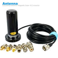 Walkie Talkie Car Radio Dual Band VHF UHF Antenna PL259 5M Coaxial Cable Magnetic Mount Base and SMA-F SMA-M BNC Connector