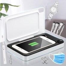 UV ozonu sterylizator pojemnik do dezynfekcji bezprzewodowa ładowarka LED 99.9% sterylizacji automatyczne klucze do telefonu szczoteczka do zębów