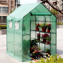 Two Floors Green Household Plant Greenhouse Mini Garden Warm Room PVC Garden Warm Room 143x73x195cm