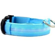 New LED Dog Night Safety Collar(Size:M) Blue