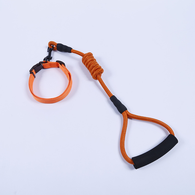 Pet Sports Dog Chain Dog Neck Ring Protective Case Automatic Hand Holding Rope Suspender Strap Pet Traction Rope