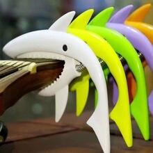 Köpekbalığı gitar/bas/Ukulele Capo Capotraste Violao için Fit 4-6 dize akustik elektro aksesuarları renkli